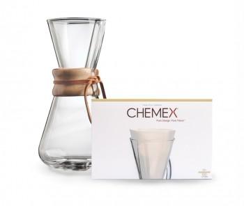 Cafetera Chemex 3 Cups + Filtros